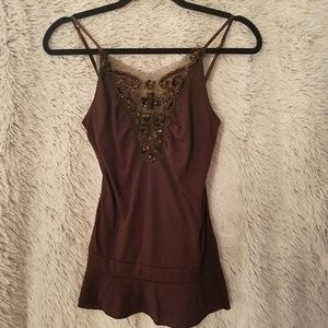 Twenty One Brown Sequin Medium Cami (A109)